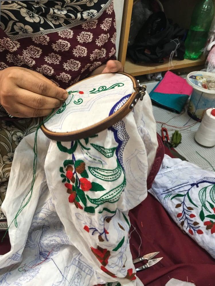 Uttara embroidery detail - Handmade Textiles Of Bangladesh